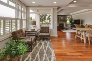 An open floor home remodel