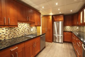 Creative Kitchen Renovation with Multi-colored backsplash