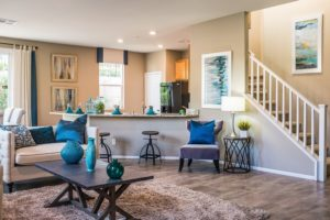 building a custom home with an open kitchen plan