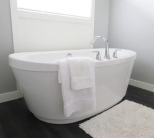 wet area bathroom remodel new bathtub