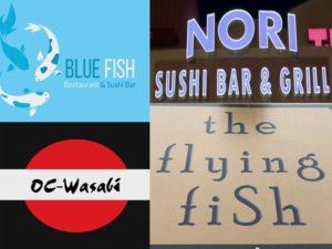 sushi takeout restaurants