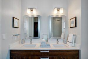 T&G Builders upgrade your bathroom lighting